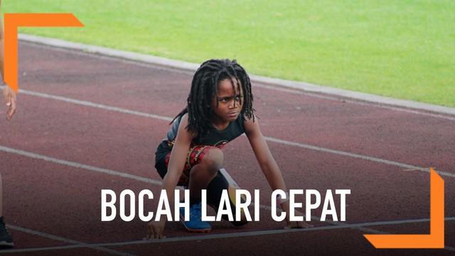 Bocah berusia 7 tahun berhasil mengarungi lintasan lari sepanjang 100 meter dalam waktu 13,48 detik. Ia dijuluki The Next Usain Bolt.