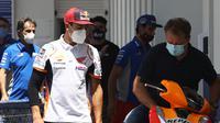 Marc Marquez di sela-sela rangkaian balapan MotoGP Andalusia 2020. (STR / AFP)