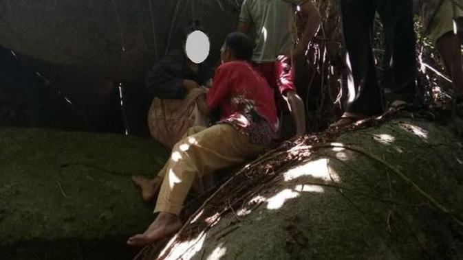Perempuan di Tolitoli itu sempat dibawa berobat kepada dukun yang menyekapnya oleh keluarganya. (Liputan6.com/Apriawan)