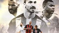 Ilustrasi - Karim Benzema, Zlatan Ibrahimovic, Kylian Mbappe (Bola.com/Adreanus Titus)