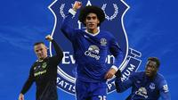 Everton - Wayne Rooney, Marouane Fellaini, Romelu Lukaku (Bola.com/Adreanus Titus)