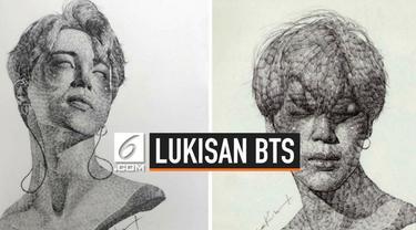Lukisan wajah anggota BTS Jimin hasil kolaborasi dengan seniman asal Korea Selatan, Lee K berhasil terjual cepat di galeri seni di London.