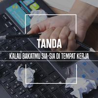 Tanda kalau bakatmu sia-sia di tempat kerja. (Foto: Adrian Putra, Digital Imaging: M. Iqbal Nurfajri/Bintang.com)