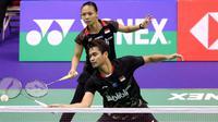 Ganda campuran Indonesia, Tontowi Ahmad/Liliyana Natsir, langsung kalah di babak pertama Hong Kong Terbuka 2018, Selasa (13/11/2018). (PBSI)