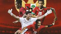 Timnas Indonesia - Muhamad Riyandi, Rachmat Irianto, Ramai Rumakiek, Bagus Kahfi (Bola.com/Adreanus Titus)