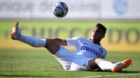 Striker Inter Milan asal Argentina, Lautaro Martinez. (AFP/Fabrice Coffrini)