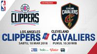 Jadwal NBA, Los Angeles Clippers Vs Cleveland Cavaliers. (Bola.com/Dody Iryawan)