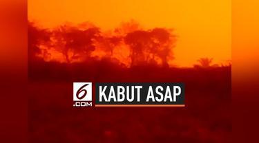 Langit di Jambi menjadi merah. Peristiwa langit merah di Jambi terjadi sejak Sabtu (21/9/2019) pagi dan warna semakin merah pada sore hari.