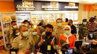 Menteri Pertanian Syahrul Yasin Limpo saat meninjau Toko Daging Nusantara GDC, Depok, Senin (5/4). (Dok. Kementan)