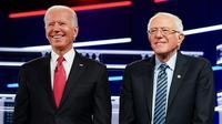 Joe Biden dan Bernie Sanders. Dok: Twitter Joe BIden @JoeBiden
