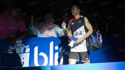Ihsan Maulana Mustofa merupakan satu-satunya wakil Indonesia yang berhasil tampil pada semifinal BCA Indonesia Open 2016. (Bola.com/Vitalis Yogi Trisna)