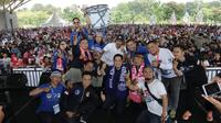 Suporter Persib Bandung, Bobotoh mendukung penuh pemberantasan mafia bola yang dilakukan pemerintahan Presiden Joko Widodo (Foto: Istimewa)