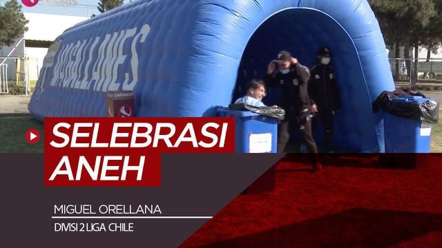 Berita video selebrasi gol unik dari striker Liga Chile, Miguel Orellana