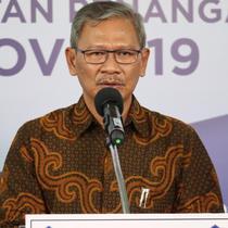 Juru Bicara Pemerintah untuk Penanganan COVID-19 Achmad Yurianto saat konferensi pers Corona di Graha BNPB, Jakarta, Kamis (25/6/2020). (Dok Badan Nasional Penanggulangan Bencana/BNPB)