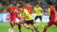 Penyerang Timnas Malaysia di Piala AFF 2018, Norshahrul Idlan. (Bola.com/Dok. AFF Suzuki Cup)