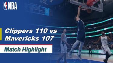 Berita Video Highlights NBA 2019-2020, LA Clippers Vs Dallas Mavericks 110-107