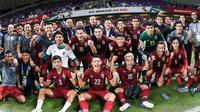 Sirisak Yodyadthai menyebut tekad dan motivasi besar yang diberikannya kepada para pemain jadi kunci keberhasilan Timnas Thailand ke fase knock out. (dok. AFC Asian Cup 2019)