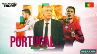 Piala Eropa - Ilustrasi Profil Tim Portugal (Bola.com/Adreanus Titus)