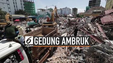 Sebuah gedung berlantai tujuh ambruk di Kamboja saat dalam tahap pembangunan. Akibatnya, sekitar 17 orang dilaporkan tewas, sedangkan 24 korban lainnya mengalami luka-luka.