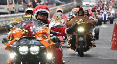 20151223-Bagaimana Jika Sejumlah Santa Claus Touring dengan Motor Gede?