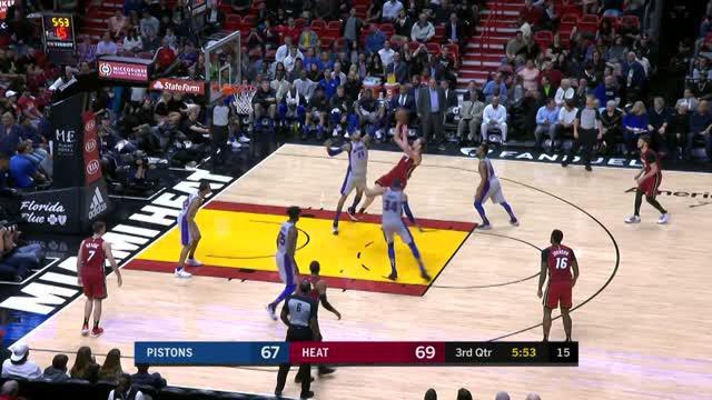 Berita video game recap NBA 2017-2018 antara Miami Heat melawan Detroit Pistons dengan skor 111-104.