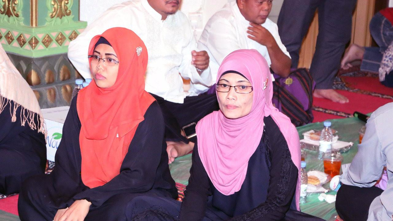 Dua TKI asal Sumbawa NTB, Sumiyati binti Muhammad Amin dan Masani binti Syamsuddin Umar yang lolos dari hukuman mati di Arab Saudi (KBRI Riyadh)