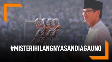 #MisteriHilangnyaSandiagaUno Trending di Twitter