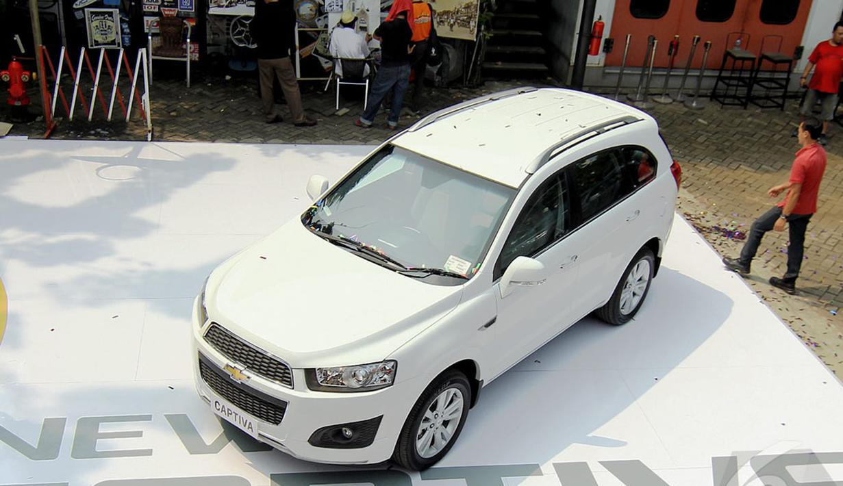 New Chevrolet Captiva 2014 resmi dihadirkan General Motors(GM) Indonesia untuk pecinta automotif Tanah Air(Liputan6.com/Faizal Fanani)