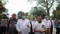 Menteri Kesehatan RI Terawan Agus Putranto melakukan kunjungan kerja ke sejumlah wilayah untuk memimpin langsung penanganan COVID-19 serta berkantor di Surabaya, Jawa Timur. (Dok Kementerian Kesehatan RI)