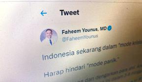 Faheem Younus MD, dokter asal AS yang mengunggah cuitan berbahasa Indonesia. Foto: Ade Nasihudin/ Liputan6.com.