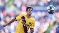 Sergi Roberto (40 juta euro) - Sergi Roberto menjadi salah satu pemain akademi Barcelona yang tetap setia berseragam Blaugrana. Gelandang berusia 28 tahun ini merupakan jebolan akademi Barcelona periode 2006-2009. (AFP/Oscar Del Pozo)