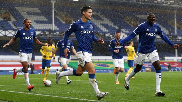 James Rodriguez Cetak Brace, Everton Hajar Brighton 4-2 di Liga Inggris