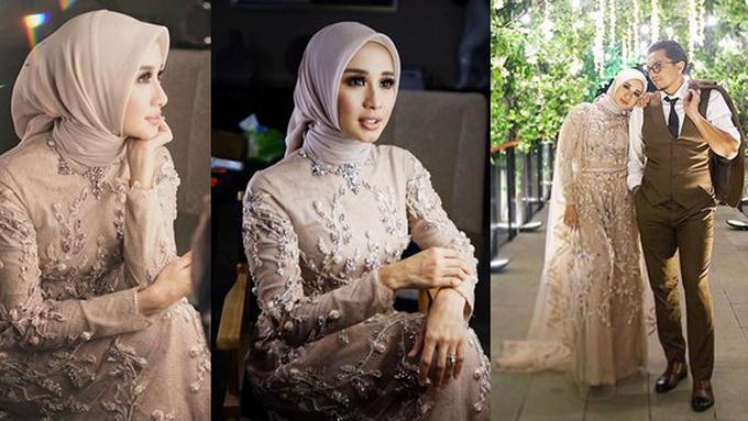 Anggun Menawan Ini Detail Wedding Dress Resepsi Kedua Laudya