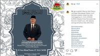 Kadis Pariwisata dan Ekonomi Kreatif DKI Cucu Ahmad Kurnia Tutup Usia. (dok,Instagram @lkb_ig/https://www.instagram.com/p/CD09dcPhdD3/Henry)