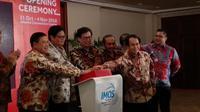 Menteri Perindustrian, Airlangga Hartarto meresmikan Indoensia Motorcycle Show (IMOS) 2018. (Amal A/Liputan6.com)