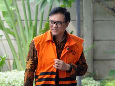 Direktur Operasional Lippo Group Billy Sindoro tiba di Gedung KPK, Jakarta, Selasa (4/12). Billy akan menjalani pemeriksaan lanjutan oleh penyidik KPK. (Merdeka.com/Dwi Narwoko)