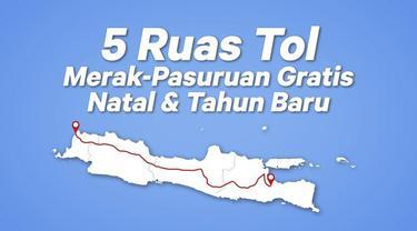 Selama periode libur Natal dan Tahun Baru 2019, beberapa ruas Tol Trans Jawa digratiskan.
