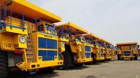 Sebanyak 40 dump truck elektrik didatangkan dari Belarusia. (Kedutaan Besar Belarusia)