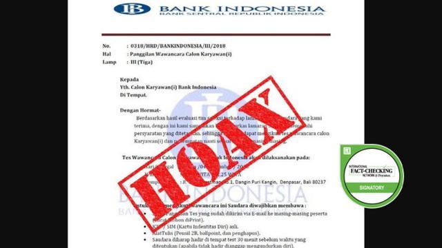 Cek Fakta Beredar Surat Undangan Wawancara Calon Karyawan Bank