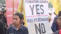 Demo Mahasiswa Tolak RUU Pertanahan.