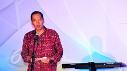 Ketua Umum PP PBSI Gita Wirjawan memberikan sambutan pada acara welcome dinner BCA Indonesia Open Superseries Premier 2015, di Jakarta, Senin (1/6). Indonesia Open akan berlangsung di Istora Gelora Bung Karno, 2-7 Juni. (Liputan6.com/Yoppy Renato)