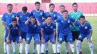 Skuat PSCS saat melawan Kalteng Putra dalam uji coba di Stadion Sultan Agung, Bantul (15/6/2019). (Bola.com/Vincentius Atmaja)