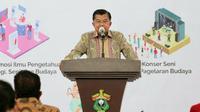 Wakil Presiden RI ke-10 dan 12, Jusuf Kalla berharap Indonesia tidak selalu tergantung industri rokok sebagai andalan saat meresmikan JK Arenatorium, Universitas Hasanuddin, Makassar Sulawesi Selatan, Kamis, 12 November 2020. (Tim Media Jusuf Kalla/JK)