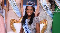 Toni-Ann Singh dari Jamaika dinobatkan sebagai Miss World 2019. (DANIEL LEAL-OLIVAS / AFP)