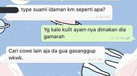 Chat netizen Tipe Idaman (Sumber: Twitter/subtanyarl)