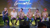 Peluncuran lagu terbaru Wali di Vertikal Garden, Gedung TLT (Telkom Landmark Tower), Jalan Gatot Subroto, Jakarta Selatan, Kamis (24/10/2019). (Nagaswara)