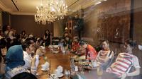 Suasana pertemuan antara pebulutangkis Indonesia dengan content creators di Jakarta, Selasa (24/7/2018). Acara tersebut dalam rangka memberi dukungan untuk para atlet jelang Asian Games 2018. (Bola.com/M Iqbal Ichsan)