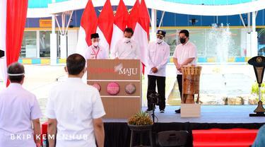 Presiden RI Joko Widodo hari ini Rabu (24/3) meresmikan Terminal Baru Bandara Kuabang yang terletak di Kecamatan Kao, Kabupaten Halmahera Utara, Provinsi Maluku Utara.