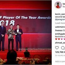 Pasangan bulu tangkis ganda putra Indonesia Marcus Fernaldi Gideon/Kevin Sanjaya Sukamulyo, atau akrab disapa pasangan Minions, meraih penghargaan dunia sebagai Pemain Putra Terbaik 2018 dari IBF.