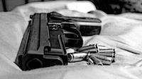 Ilustrasi pistol. (Istimewa)